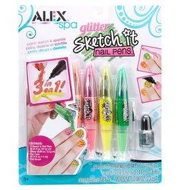Alex Brands Glitter Sketch It Nail Pens