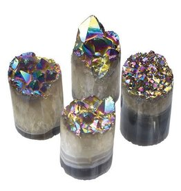 GeoCentral Rainbow Aura Crystal Cylinders (sold individually)