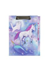 3 Cheers for Girls Celestial Unicorn Dreams Clipboard