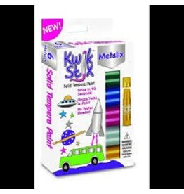 The pencil Grip KwikStix Tempera Paint - 6 Metalix Colors