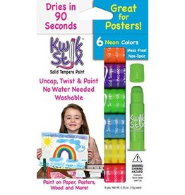 The pencil Grip KwikStix Tempera Paint - 6 Neon Colors