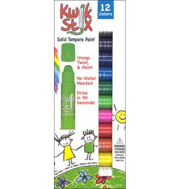 The pencil Grip KwikStix Tempera Paint - 12 Classic Colors