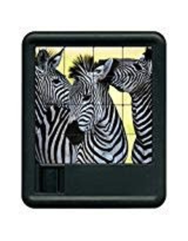 Family Games America Animal Kingdom Sliding Puzzle - Zebra