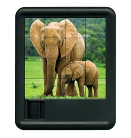 Family Games America Animal Kingdom Sliding Puzzle - Elephant