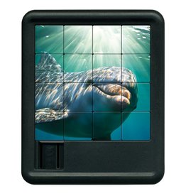 Family Games America Deep Blue Sea Sliding Tile Puzzle - Dolphin