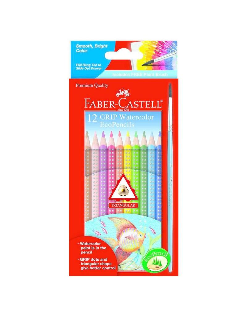 Faber-Castel 12ct Grip Watercolor EcoPencils