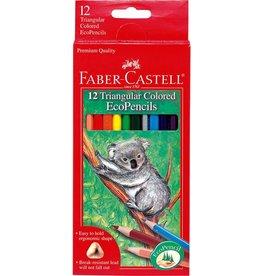 Faber-Castel 12ct Triangular Colored EcoPencils