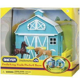 Reeves International Frolicking Foals Pocket Barn
