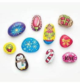 Faber-Castel Hide & Seek Rock Painting Kit - Holiday