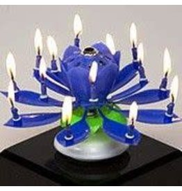 happybirthdaycandle.com Blue Flower Birthday Candle (Party Add-On Only)