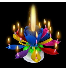 happybirthdaycandle.com Rainbow Colored Flower Musical Birthday Candle (In-Store Only)