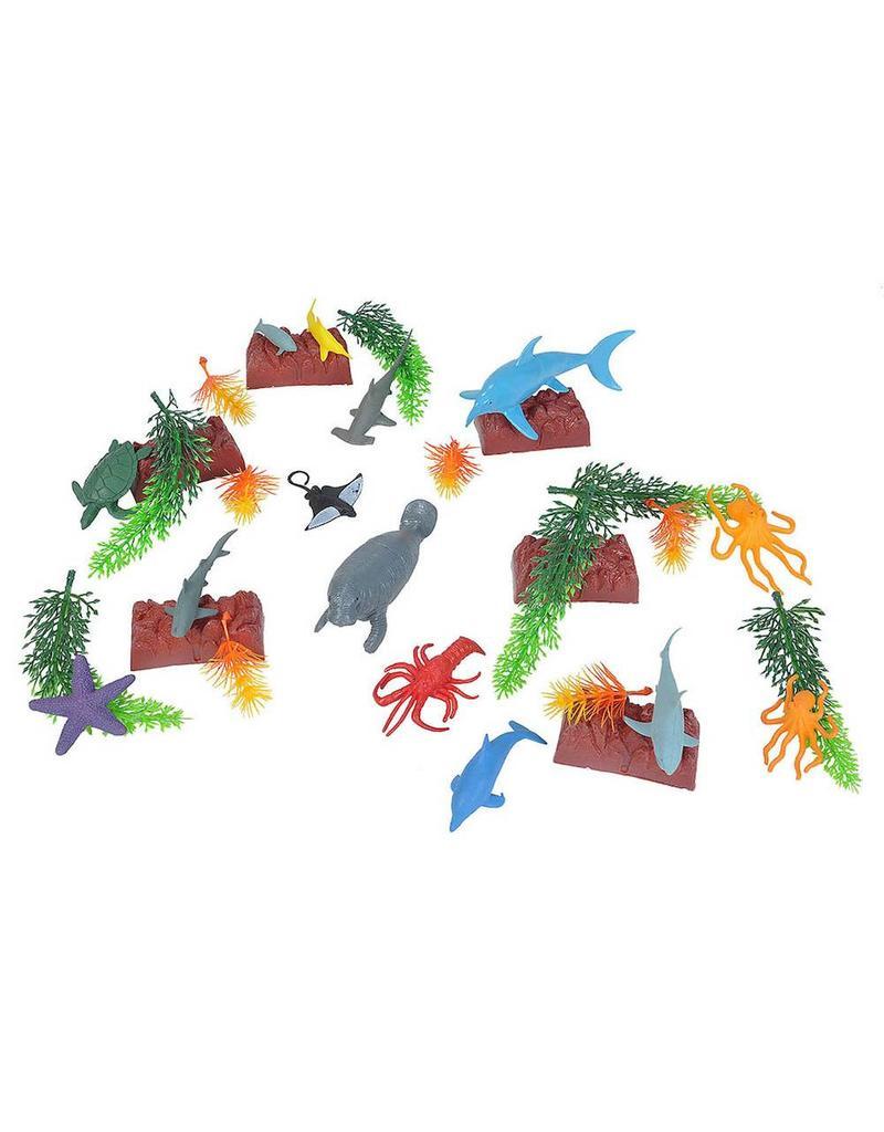 Wild Republic Ocean Figurine Playset Bucket