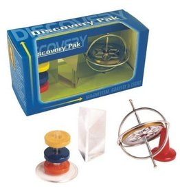 Tedco Toys Discovery Pak/Gyroscope,Prism,Magnets
