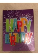 Paper House Production Happy Birthday Fireworks Gift Enclosure