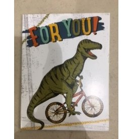 Paper House Production Dino on Bike Gift Enclosure