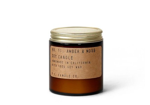 P.F. Candle Co. No. 11 Amber & Moss 3.5 oz Mini Soy Candle