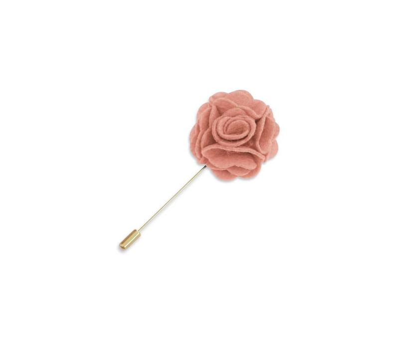Pink Floral Lapel Pin
