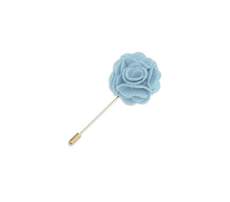 Light Blue Floral Lapel Pin