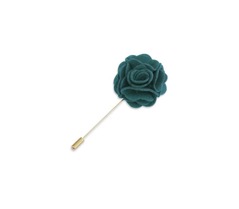 Green Floral Lapel Pin