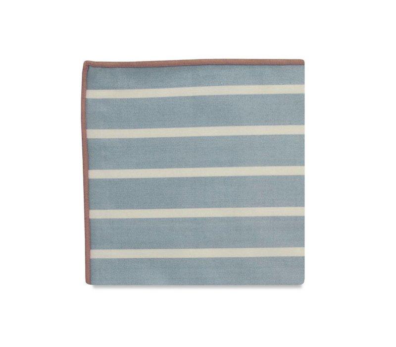 The Hampden Stripe Cotton Pocket Square