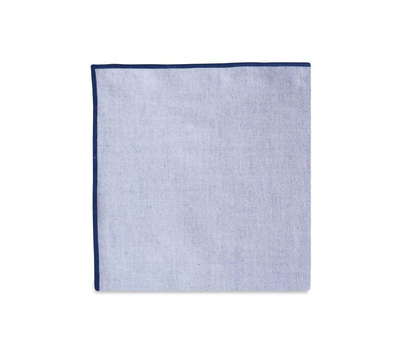 The Merrow (Navy Chambray) Pocket Square