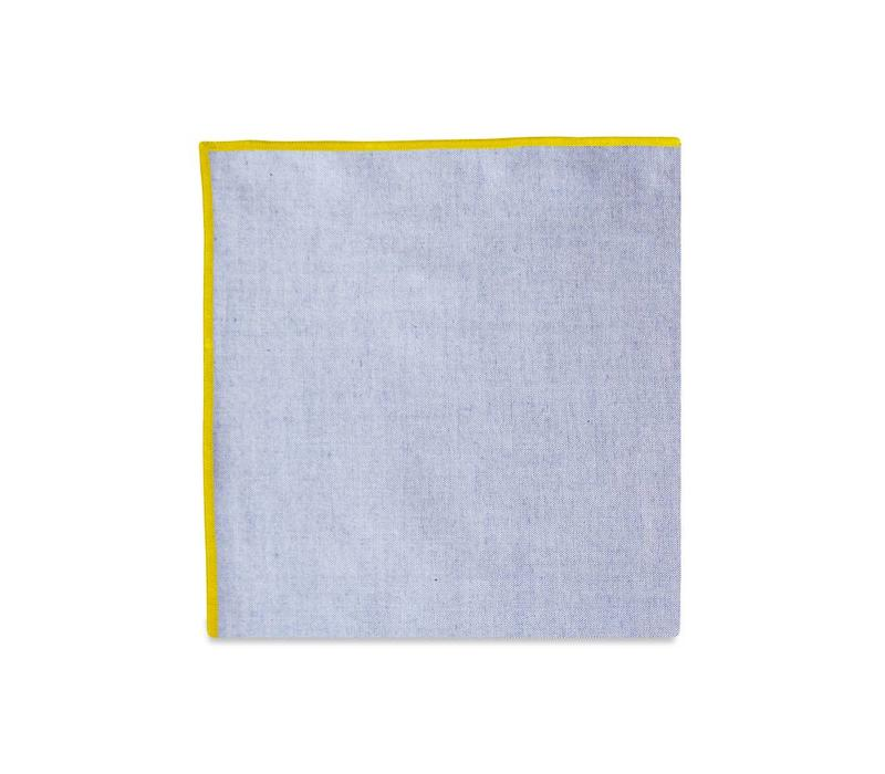 The Merrow (Yellow Chambray) Pocket Square