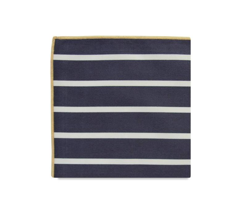 The Charles Stripe Cotton Pocket Square
