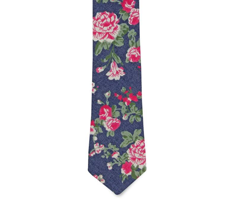 The Clara Denim Floral Tie