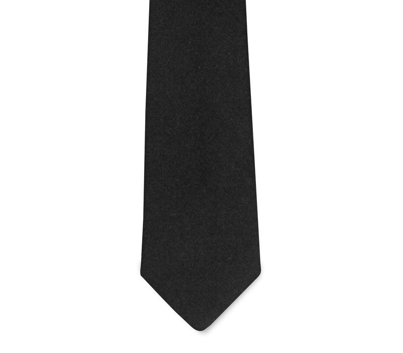 The Diplomat Black Wool Tie