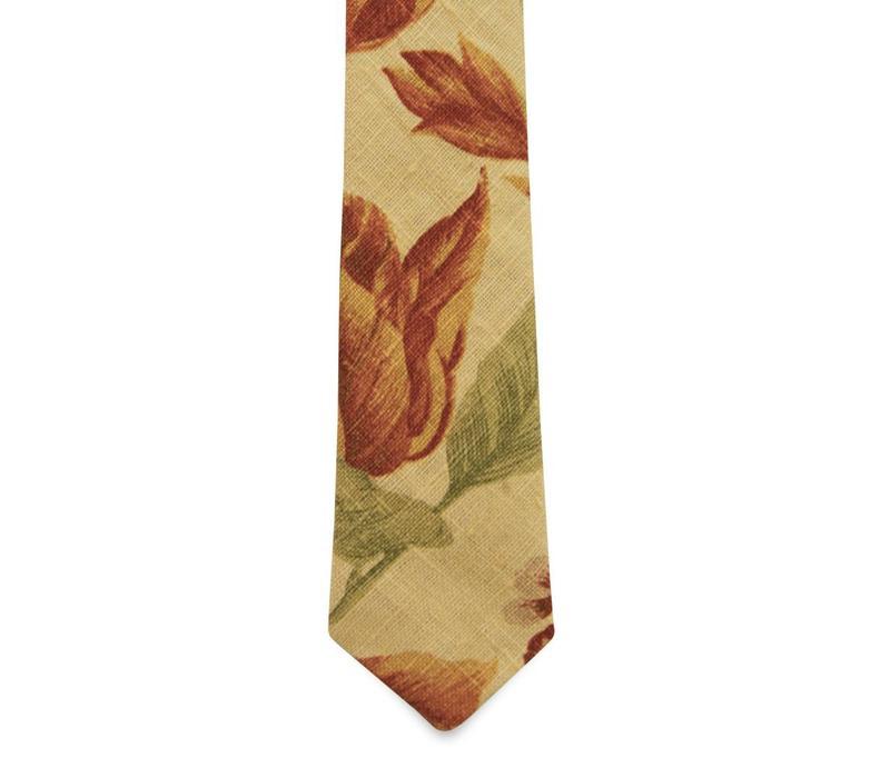 The Evans Floral Linen Tie