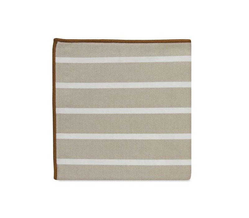 The Foster Stripe Cotton Pocket Square