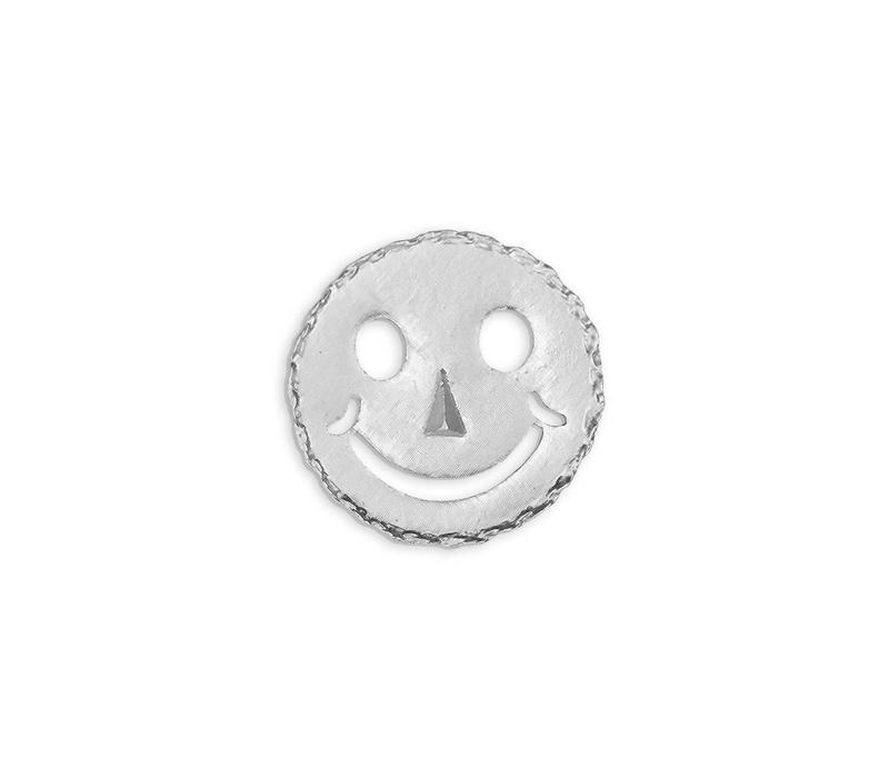 Silver Smiley Pin