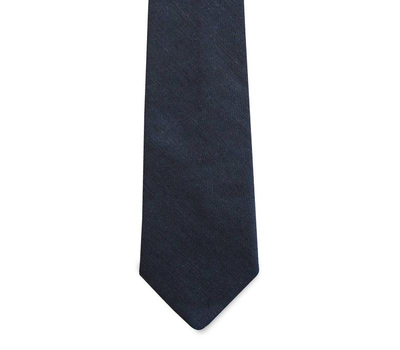 The Diplomat Navy Linen Tie