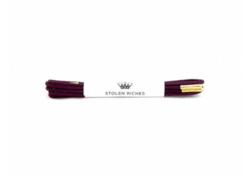Stolen Riches Purple Shoe Laces - Gold Tips
