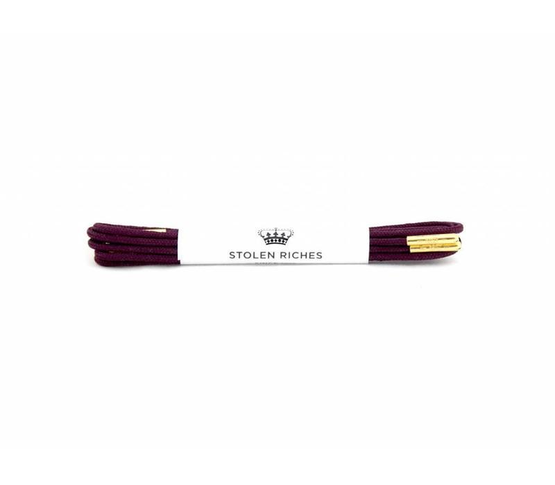 Stolen Riches - Purple Shoe Laces - Gold Tips