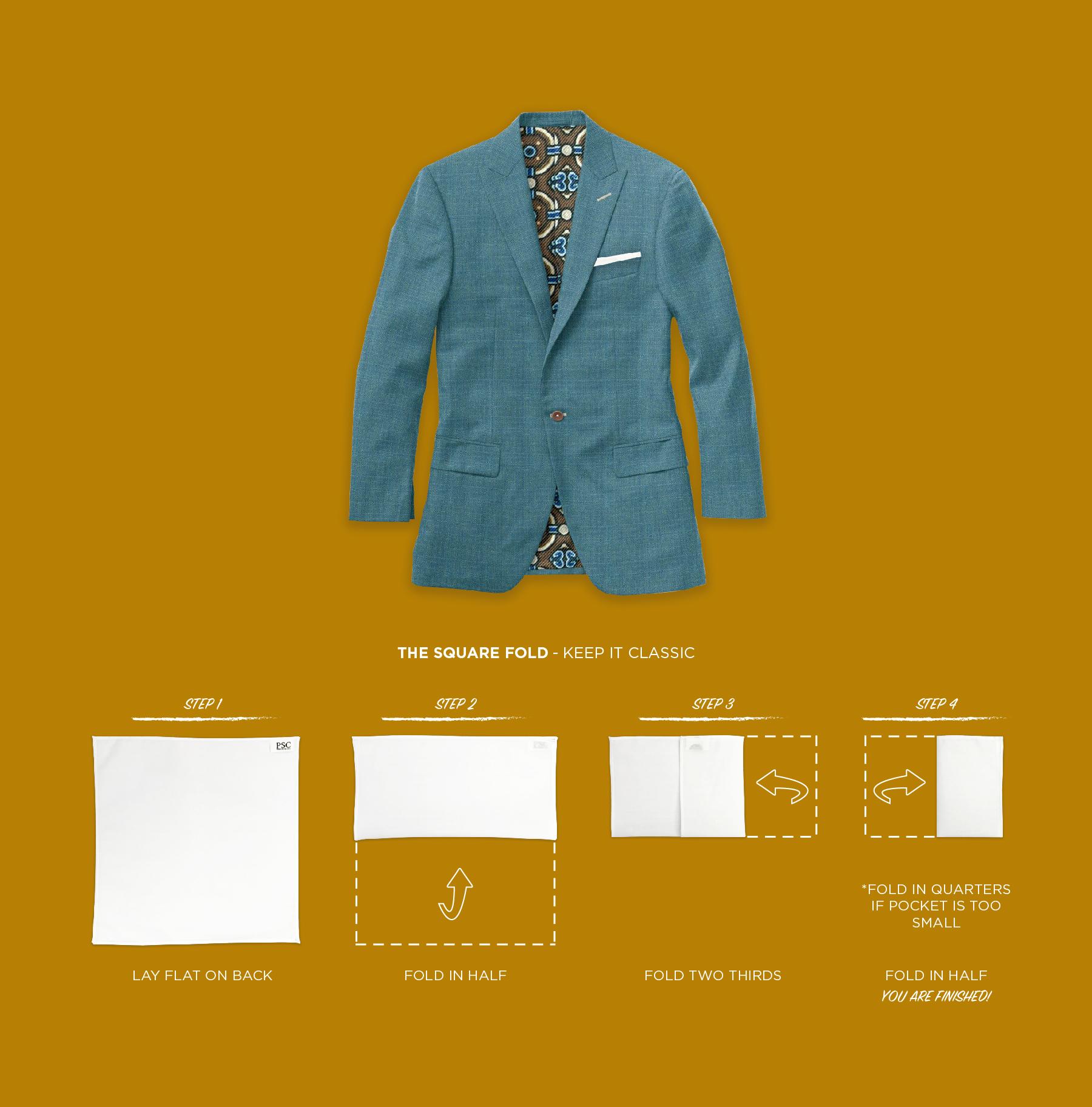 Pocket Square Fold Guide Pocket Square Clothing