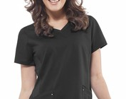 Womens Solid Scrub Top