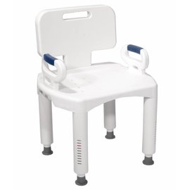 Drive Medical Drive Bath Bench W/Back & Padded Arms