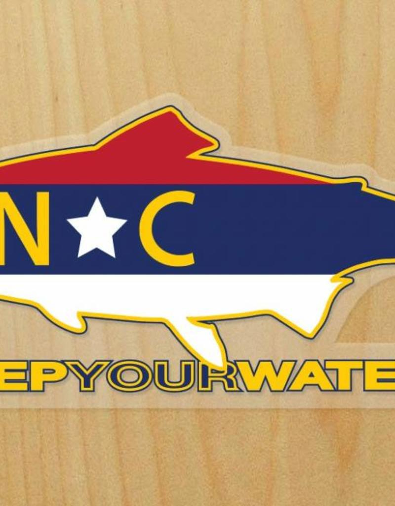 Rep Your Water Rep Your Water NC Sticker
