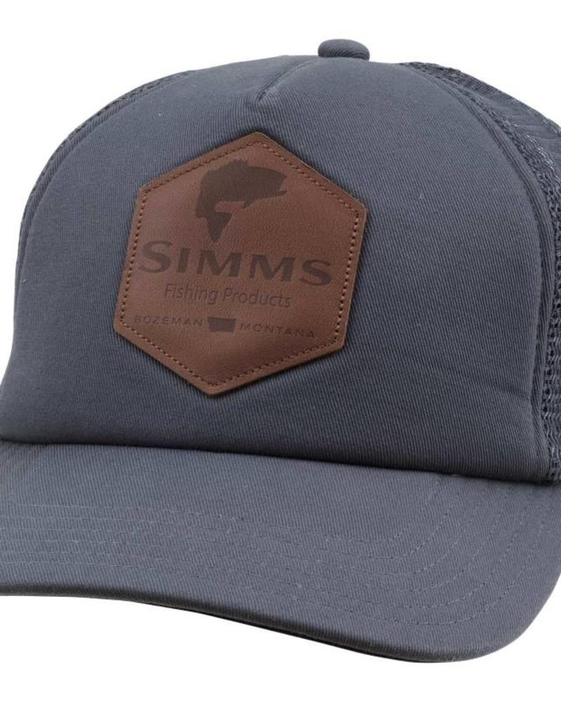 Simms Fishing Leather Patch Trucker