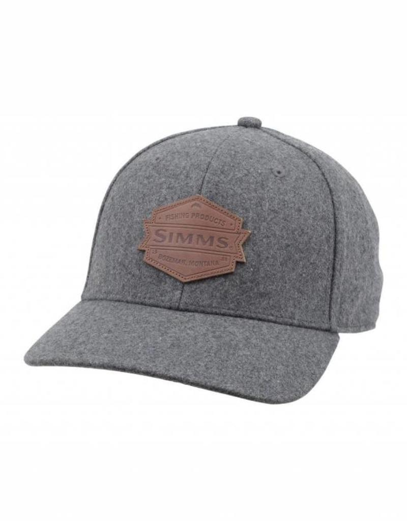 F18 SIMMS WOOL LEATHER PATCH CAP HEATHER GRY