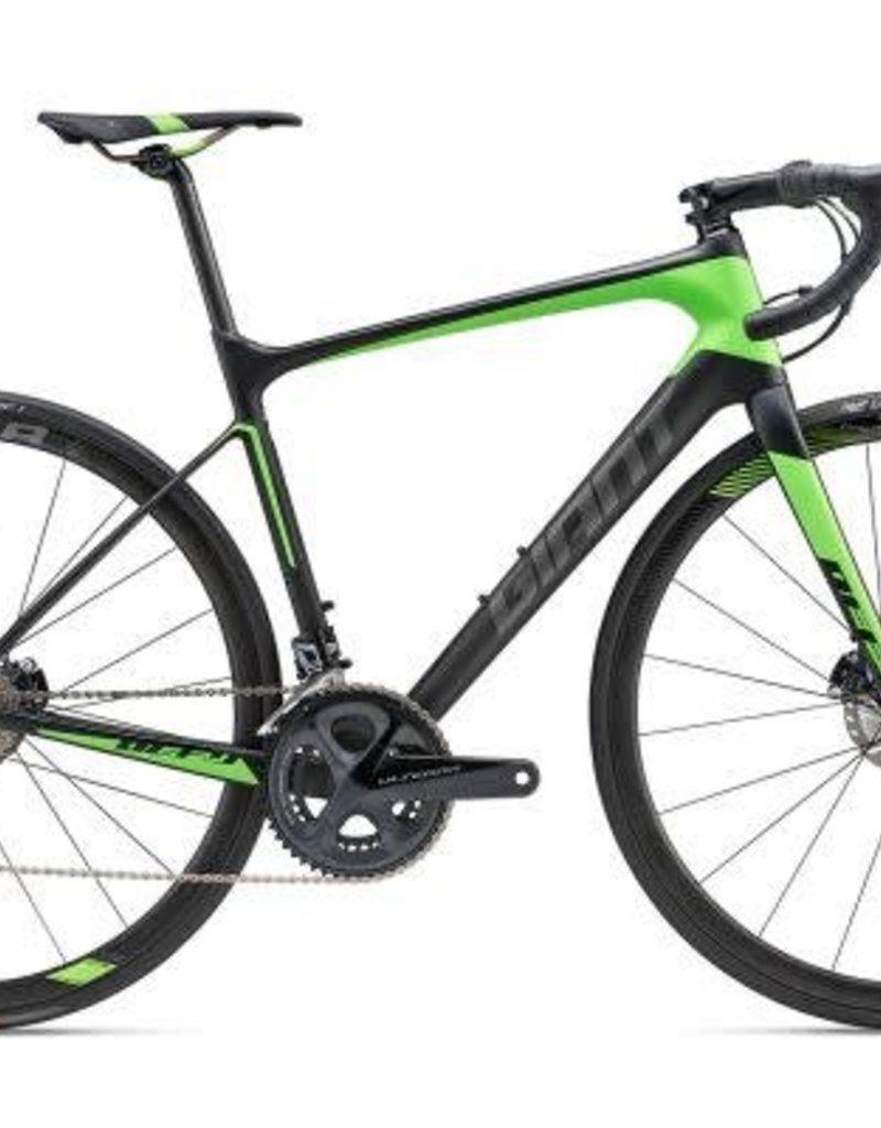 Giant Giant 18 Defy Advanced Pro 1 LG Matte Carbon Smoke/Neon Green/Char