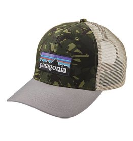 Patagonia P-6 Logo Trucker Hat Big Camo: Fatigue Green w/Drifter Grey ALL