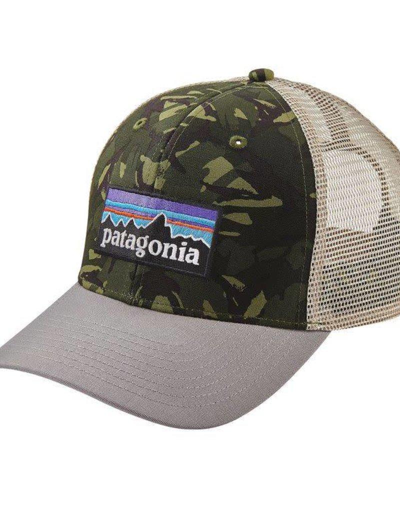 Patagonia P-6 Logo Trucker Hat Big Camo: Fatigue Green w/Drifter Grey ALL