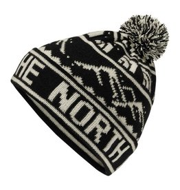 The North Face TNF FAIR ISLE POM BEANIE TNF Black Nordic Print OS