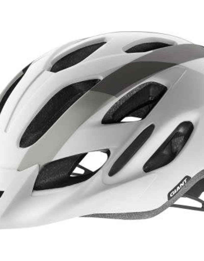 Giant Helmet Giant Compel M/L White/Metallic