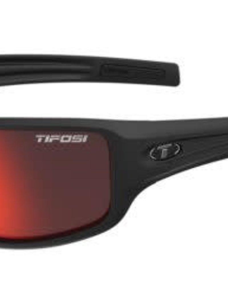 Tifosi Optics Tifosi Bronx, Matte Black Clarion Red Polarized Lenses