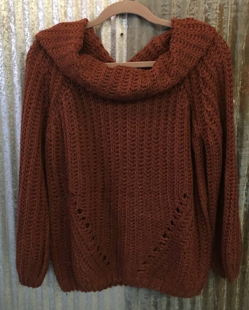 Off The Shoulder Cowl Neck Sweater Boutique 23