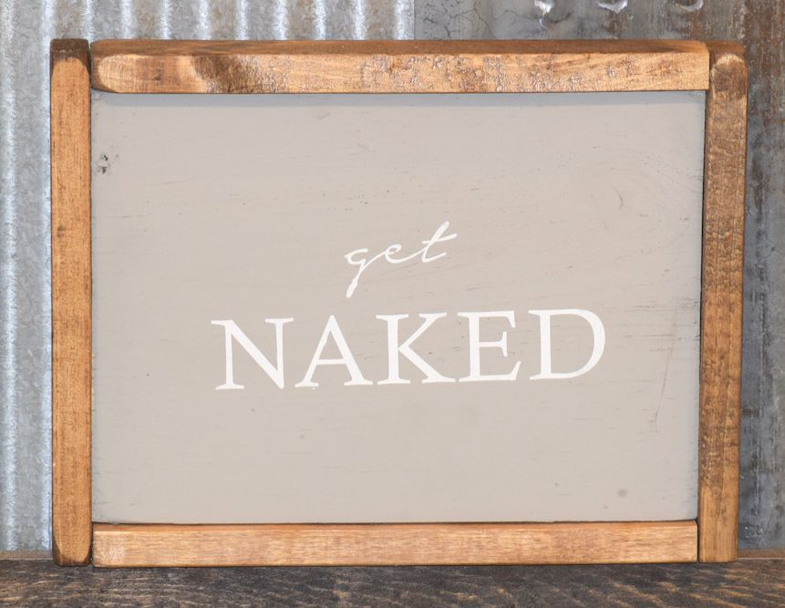 Superieur Cabin Fever Decor Get Naked Double Sided Sign ...