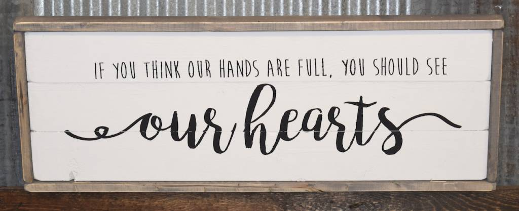 Beau Cabin Fever Decor Our Hearts Double Sided Sign ...